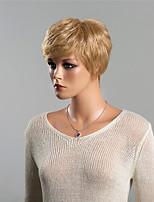 Youthful Fascinating Fashionable Messy Short Wavy  Human Hair Wig