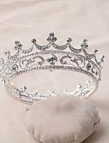 Dame Rhinestone / Legering Headpiece-Bryllup Diademer 1 Deler Sølv Rund 12