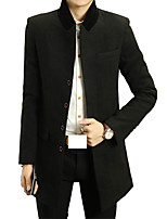 In the autumn of 2016 new men's wool coat male autumn Korean cultivating youth wool coat girl coat tide