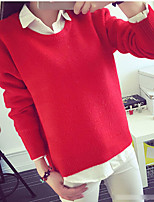 Women's Solid Pink / Red / Yellow Cardigan,Simple / Street chic Long Sleeve