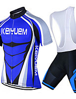 KEIYUEM® Summer Cycling Jersey Short Sleeves + BIB Shorts Ropa Ciclismo Cycling Clothing Suits #K91