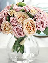 1 Ramo Poliéster Lótus Flor de Mesa Flores artificiais