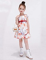 Girl's Multi-color Dress,Rainbow Cotton / Rayon Summer / Spring / Fall