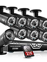 ZOSI@8CH 1080P HDMI DVR 2TB HDD 8XOutdoor 2.0MP Waterproof IR-CUT Bullet Camera Security Kit CCTV Systems