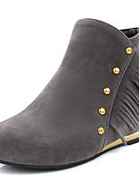 Women's Shoes Low Heel Fashion Boots / Round Toe Boots Dress / Casual Black / Yellow / Red / Gray