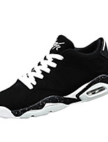 Men's Shoes PU Outdoor / Casual Flats Outdoor / Casual Walking Flat Heel Others / Lace-up Black / Black and White