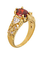 Ring Fashion Party / Daily / Casual Jewelry Alloy / Zircon Women Band Rings 1pc,6 / 7 / 8 / 9 Gold