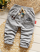 Boy's Casual/Daily Print Pants,Cotton / Polyester Spring / Fall Brown / Green / Pink / Red / Gray