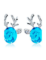 Earring Animal Shape Jewelry Women Fashion Wedding / Party / Daily / Casual / Sports Crystal / Alloy / Rhinestone 1 pair Silver