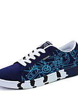Men's Boat Shoes PU Athletic Sneakers Athletic Sneaker Flat Heel Black / Blue / White