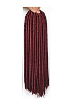 Fehler Havanna / Gehäkelt Dread Locks Haarverlängerungen 14 18 inch Kanekalon 24 Strand 115-125 Gramm Haar Borten