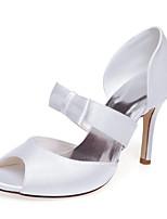 Zapatos de boda-Sandalias-Tacones / Punta Abierta-Boda / Vestido / Fiesta y Noche-Blanco-Mujer