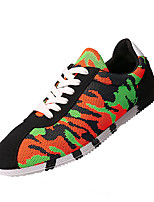 Men's Shoes Tulle Casual Sneakers Casual Walking Flat Heel Others Black / Blue / Orange