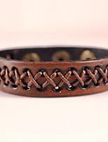 Dell'involucro del braccialetto / Bracciali in pelle 1 pezzo,Alla moda / stile della Boemia / Adorabile Di forma geometricaNero / Argento
