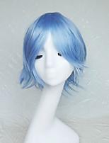 cosplay couleur perruque personnages de dessin animé bleu double lumière deviennent perruque gauchi 10 pouces