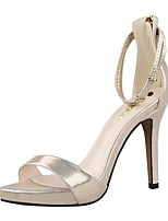 Women's Shoes  Spring / Summer Comfort / Open Toe Sandals Casual Stiletto Heel Buckle Black / Pink / Red / Silver / Gold