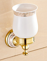 Bathroom Accessories Gold-Plated Brass Material Toothbrush Holder