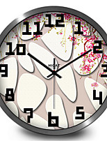 Beautiful Stone Flower Living Room Bedroom Decorative Personality Creative Metal Wall Clock