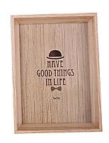 6 inch homburg pattern wooden photo frame