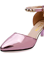 Women's Shoes Patent Leather Summer Heels Heels Casual Stiletto Heel Others Pink / Gray / Gold