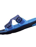 sapatos masculinos pu sandálias casuais casuais sandálias esportivas outros salto planas azul / marrom / amarelo / vermelho
