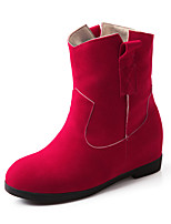 Women's Boots Fall / Winter Fashion Boots Casual Wedge Heel Others Black / Pink / Red / Camel Walking