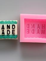 moldes de letras de chocolate de silicona, moldes para pasteles, moldes de jabón, herramientas de decoración para hornear
