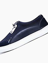 Men's Shoes Outdoor / Casual PU Fashion Sneakers Black / Blue