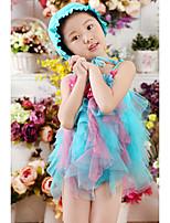 Baby Beach Floral Dress,Cotton Summer Blue