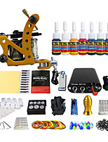 Simple Single Power Coil Mounted Mini Tattoo Machine Kit Equipment Pigment 7 (Handle Color Random Delivery)