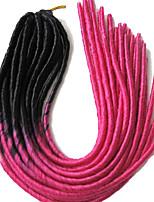 Rose Havanna Dread Locks Haarverlängerungen 20 inch Kanekalon 20 roots Strand 100g Gramm Haar Borten