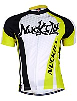 Sportif Vélo/Cyclisme Maillot + Short/Maillot+Cuissard / Bas / Hauts/Tops Homme Manches longues Respirable / Anti-transpirationTactel /
