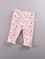 Girl's Casual/Daily Floral Leggings,Cotton Summer Pink
