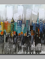 Hand-Painted Abstract Fantasy Modern Oil Painting On Canvas One Panel Ready To Hang
