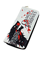 Cartoon Game of Thrones Zipper Long Purse