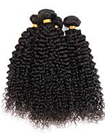 4 Peças Kinky Curly Tramas de cabelo humano Cabelo Indiano Tramas de cabelo humano Kinky Curly