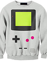 3D Hoodies Geometric Game Button Print Cosplay Costumes Hoodies Geeky Clothing Round Neck Long Sleeves For Male/Female