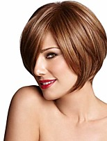 Bob Straight Synthetic Wig European and American Fashion High Temperature Hair Wigs Hot Sale