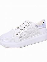 Scarpe Donna-Sneakers alla moda-Ufficio e lavoro / Formale / Casual / Sportivo-Creepers / Punta arrotondata-Plateau-Finta pelle-Nero /