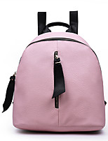 Women-Sports / Casual / Outdoor / Shopping-PU-Backpack-White / Pink / Gray / Black