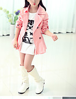 Girl's Casual/Daily Solid Trench Coat,Cotton Winter / Spring / Fall Pink / Gray
