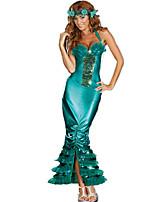 Costumes Déguisements de contes de fées / Mermaid Tail Halloween / Noël / Carnaval / Fête d'Octobre / Nouvel an Vert Mosaïque Polyester