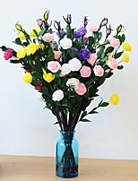 1 1 Ramo Poliéster / Plástico Rosas Flor de Mesa Flores artificiais 22.24inch/56.5cm