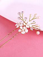 Dame Perle / Krystall Headpiece-Bryllup / Spesiell Leilighet Hårspenne / Hair Stick 1 Deler Hvit Annerledes 20