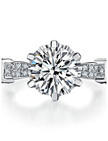 2CT Brand Ring for Women SONA Simulate Diamond Excellet Design Marriage Jewelry Ring for Bride Sterling Silver Setting