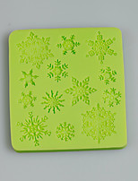 Christmas Snowflake Silicone Mold Chocolate Fondant Cake Decorating Tools for Cupcake Candy Chocolate Clay Fimo Resin
