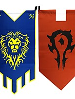 Video Game WOW Red / Blue Terylene 50CM Far Flag More Accessories(2PCS)