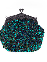 L.WEST Women's The Elegant Glitter Bead Embroider Cheongsam Evening Bag