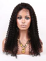 evawigs 8a graad 10-26 inch brazilian virgin human hair u deel&lace front krullende pruik 100% onbewerkte pruik