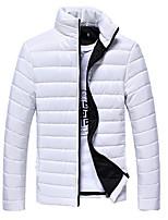 Men's Regular Padded Coat,Polyester Solid Long Sleeve